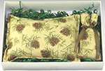 Balsam Pillow Gift Box - Pine Cones on Beige