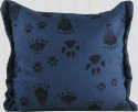 Balsam Pillow - 7x8 - Animal Tracks on Blue